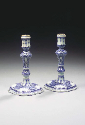 A fine pair of blue and white