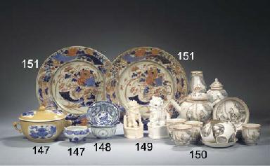 A set of eight Japanese Imari