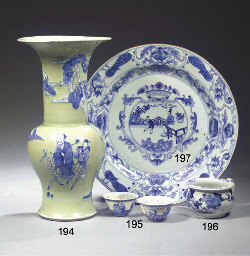 A blue and white 'Nanking Carg
