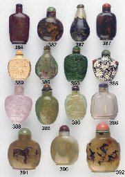 Four hardstone bottles