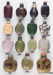 A shadow agate snuff bottle