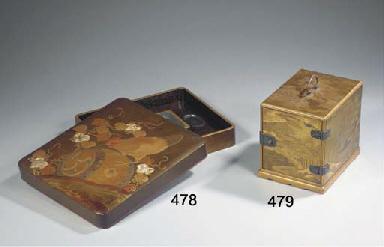 A lacquer writing-box, suzurib