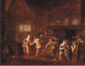 Peasants dancing and making mu