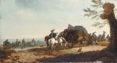A supply wagontrain with caval