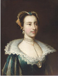 Portrait of a Lady, in a blue
