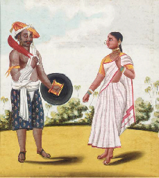 An Indian man and his wife; al