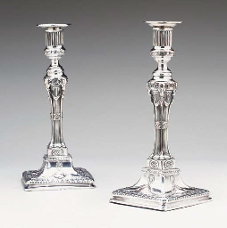 A PAIR OF GEORGE III SHEFFIELD