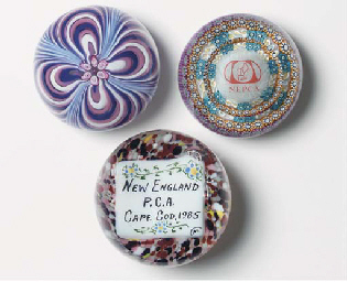 THREE PAPERWEIGHT COLLECTOR'S