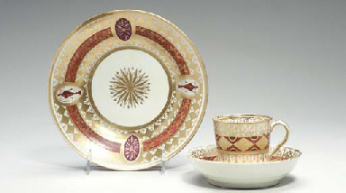THREE COALPORT DISHES AND A GR