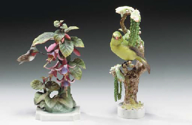 TWO PAIRS OF ROYAL WORCESTER B