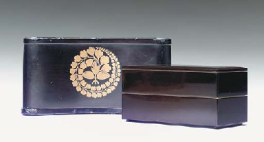 A GROUP OF FOUR LACQUER BOXES,