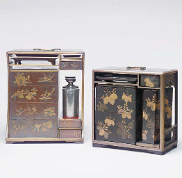 A PICNIC SET DECORATED WITH BL