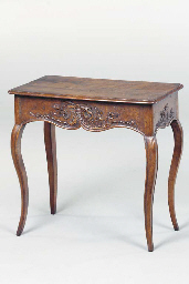 A LOUIS XV PROVINCIAL OAK AND