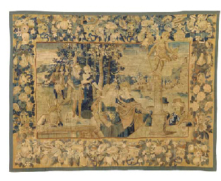 A FLEMISH HISTORICAL TAPESTRY,