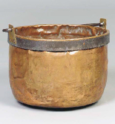 A COPPER AND WROUGHT-IRON CAUL