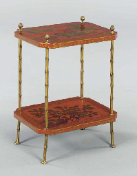 A PAIR OF LOUIS XVI STYLE RED