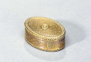 A CONTINENTAL YELLOW GOLD SNUF