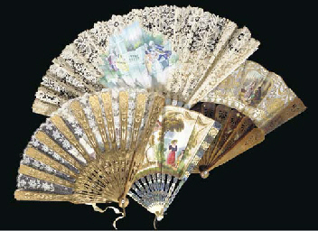A MISCELLANEOUS GROUP OF FANS,