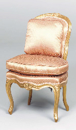 A PAIR OF LOUIS XV CARVED GILT
