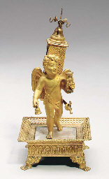A CHARLES X GILT-BRONZE AND MO