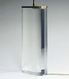 A PAIR OF ACRYLIC TABLE LAMPS