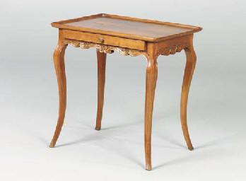 A LOUIS XV STYLE WALNUT SIDE T