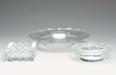 A GROUP OF LALIQUE TABLE ARTIC