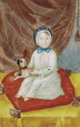 Portrait of a girl seated on a