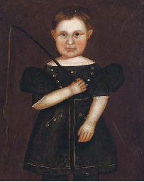 Portrait of a child with a fis