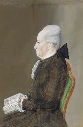 A Portrait of a man in profile