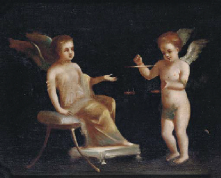Two Cherubs with scales