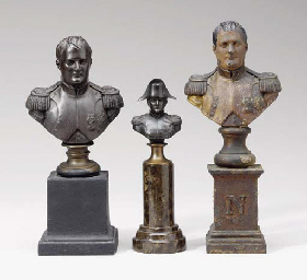 A GROUP OF FOUR PATINATED OR G