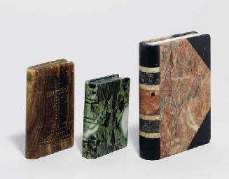 TEN VARIOUS HARDSTONE BOOK-FOR