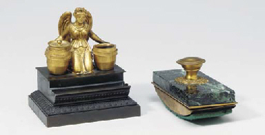 A GILT AND PATINATED-BRONZE FI