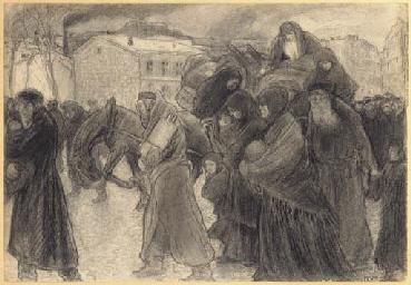 Jews Leaving a City