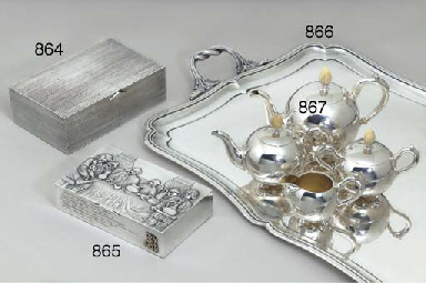 A LARGE SILVER TRAY