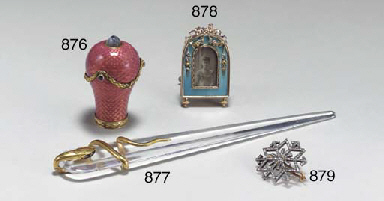 A JEWELED, GOLD-MOUNTED ROCK C