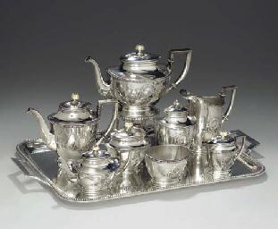 A SILVER COMPOSITE TEA SERVICE