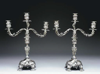 A PAIR OF PORTUGUESE SILVER TH
