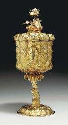 A GEORGE IV SILVER-GILT CUP AN