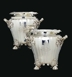A FINE PAIR OF REGENCY SILVER
