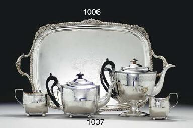 A REGENCY SILVER TEA TRAY
