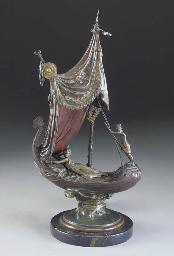 An Oriental Beauty sailing on