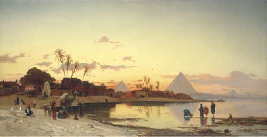 Sunset on the Nile, Cairo