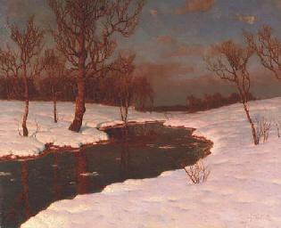 Sunset on a Snowy River Landsc