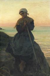 Jeune pêcheuse bretonne; Douar