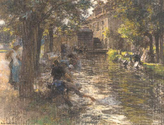 Washerwomen on the Banks of a