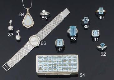 An opal and diamond pendent ne