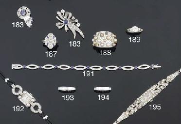 A lady's diamond wristwatch