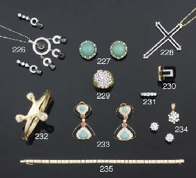 A diamond three stone bangle